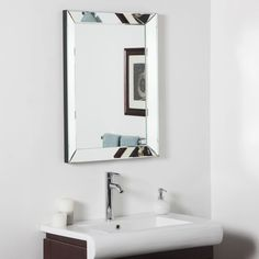 Framed Bathroom Mirrors Canada frameless mirror | frame mirrors, wall decor and romantic master