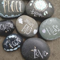 Draw on rocks and leave them for others to find.