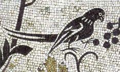 Roman Mosaic. Bird. Astorga (Asturica Augusta), Spain.
