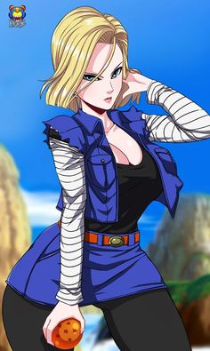A18 by Kyoffie12.deviantart.com on @DeviantArt - More at https://pinterest.com/supergirlsart #android18 #android #18 #dragon #ball #z #dragonballz #dbz #fanart