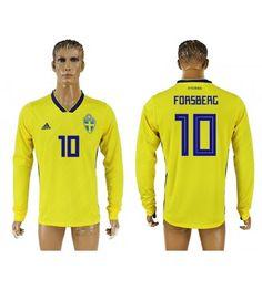 Schweden Emil Forsberg 6 Heimtrikot WM 2018 Herren Langarm Vm 2018, Manchester United, Sports, Tops, Fashion, World Cup, Sweden, Football Soccer, Hs Sports