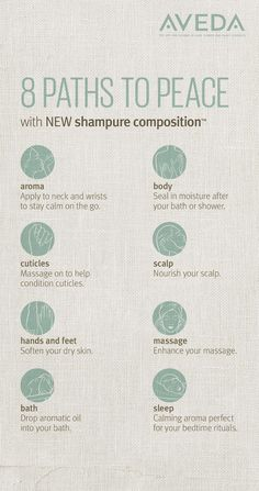 Find your path to peace with calming rituals to pair with Shampure Composition.