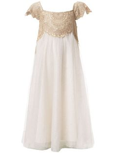 Estella Gold Lace Dress~