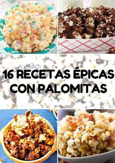 Mexican Jello Recipe, Jello Recipes, Popcorn Recipes, Fancy Desserts, Healthy Desserts, Yummy Treats, Yummy Food, Sweet Treats, Gourmet Popcorn