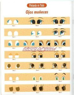 ARTESANATO COM QUIANE - Paps,Moldes,E.V.A,Feltro,Costuras,Fofuchas 3D: Passo a passo como desenhar olhos de bonecas,olhos de animais e olhos humanos
