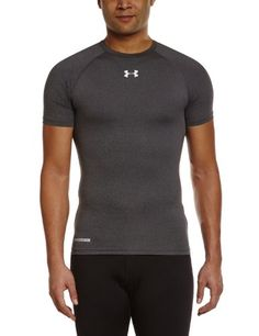 e2d81d7fb23a Under Armour Mens HeatGear Sonic Compression Short Sleeve Carbon  HeatherWhite Medium  gt  gt  gt. Sonic T ShirtCompression ...
