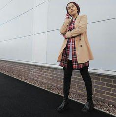 WEBSTA @ dinatokio - Ombre'ing into the ground 👀 Dina Tokio, Shopping Spree, Coat, Jackets, Hijabs, Clothes, Style, Fashion, Outfit