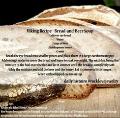 Viking Recipe - Bread and Beer Soup
