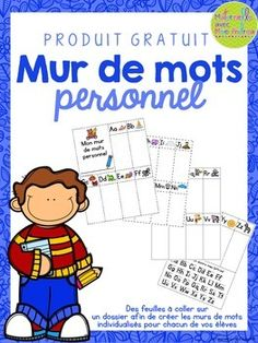Perfect to use during writing time! French Teaching Resources, Teaching French, Kindergarten Activities, Writing Activities, Teaching Kids, Kids Learning, French For Beginners, Kindergarten Language Arts, French Education