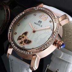 Matt Arend MA 135 RGW Rolex Watches, Watches For Men, Mechanical Watch, Watch Brands, Blue Sapphire, White Leather, Peace, Accessories, Butterflies