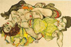 Egon Schiele - 'Weibliches Liebespaar' (seen at the Albertiner, Vienna)