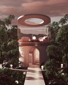 Futuristic Interior, Futuristic Architecture, Minimalist Architecture, Architecture Design, Organic Architecture, Amazing Architecture, Retro Interior Design, Home Design, Casa Cook