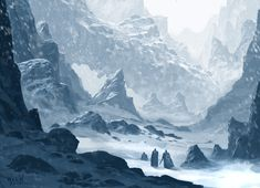 Snow environment/weather concept, Wes Wheeler on ArtStation at https://www.artstation.com/artwork/snow-environment-weather-concept
