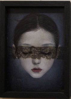 """Artist Mao Hamaguchi -- """"Young girls in old Arabia were often buried alive next to their dead fathers, apparently as sacrifice to the goddesses of the tribes . . . """" Harold Feldman, """"Children of the Desert"""""""