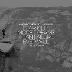 This is one of those @fast.quotes where you have to pause and let it sink in... Don't let fear stop you from pursuing your dreams. If you never try you'll never know. Therefore not trying because of fear is really the true failure.  Check out  @fast.quotes  for more inspiration.   DOUBLE TAP if this inspired you.  TAG a friend you'd like to inspire.  REPOST to spread the inspiration.  FOLLOW me for @inspirationerrday  by inspirationerrday