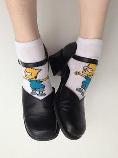 Bart Simpsons 90s grunge fashion trend