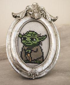 Yoda cross stitch, xstitch from Star Wars, easy pattern