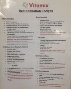 Vitamix blender demonstration recipes from Costco. Smoothies, soup base, coffee drink, ice cream treat.