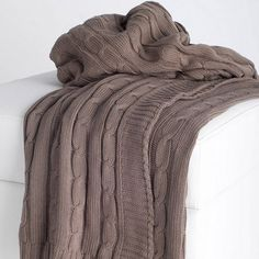 Cable Knit Throw in Mocha $44.95