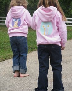 applique on back of jackets. Matching mini on front?