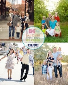 Here are some examples of blue themed clothing for coordinating family photos - great inspiration for your upcoming Christmas card photo or family pictures | <a href=