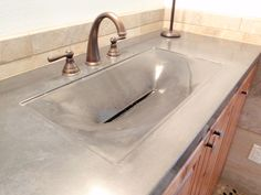 The Alki From The Evo Line Of Fabric Formed Concrete Sinks.