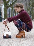 Winter Knit Leggings Wine