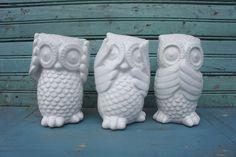 Diy on pinterest 165 pins - Hear no evil owls ceramic ...