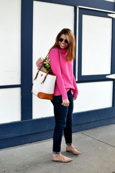 pink turtleneck | fishbowl fashion
