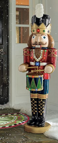 Sometimes you just have to go all in for Christmas and our Musical Nutcracker stands nearly 5 ft. tall and ready to delight one and all. The drums! All Things Christmas, Christmas Holidays, Christmas Crafts, Merry Christmas, Xmas, Christmas Ornaments, Classic Christmas Carols, Vintage Christmas, Outdoor Christmas Decorations