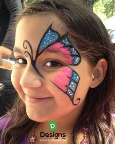 Kelebek Yuz Boyama Yüz Boyama Girl Face Painting Butterfly Face