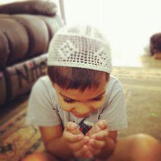My son making duah mashallah