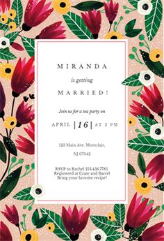 65 best bridal shower invitation templates images in 2018 free