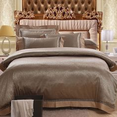 Stylish Pure Color Royal Style 4 Pieces Bedding Set