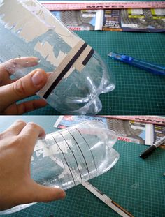 Recycled Plastic Bottle Drain De-clogger...must try!