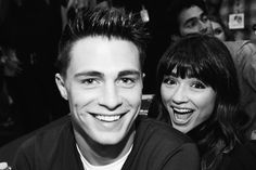 Colton Haynes and Crystal Reed