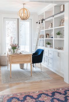 70 Beautiful & Inviting Home Office Decor Ideas that make you want to work - Idea Wallpapers , iPhone Wallpapers,Color Schemes Home Office Space, Home Office Design, Home Office Decor, Home Decor, Dining Room Office, Home Office Lighting, Office Workspace, Office Chairs, Best Office