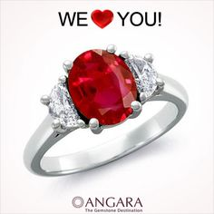 Exclusively Designed #Ruby Rings from @Angara