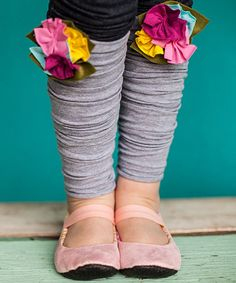 Look at this Snugars Gray Cupcake Leg Warmers on #zulily today!