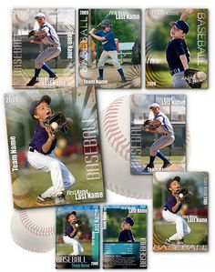 baseball card template perfect for trading cards for your team for use in photoshop easily. Black Bedroom Furniture Sets. Home Design Ideas