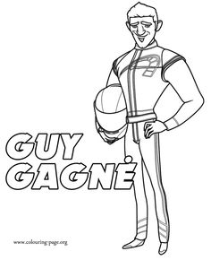 Come check out this another coloring page from upcoming movie Turbo! Here is Guy Magné, a speed race car driver! Just print it!