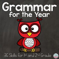 Are you looking for a no-prep, ink-saving, comprehensive grammar product? This year-long bundle of fun and engaging grammar pages is just right for your class! There are 36 grammar skills perfect for 1st and 2nd graders - ANSWER KEYS INCLUDED! Your students will love COLORING the cute pictures on every page, and you will love that you can just PRINT & GO!