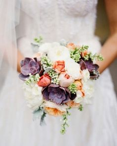 peony and succulent wedding bouquets   Wedding stuff / bouquet of ranunculus, charm peonies, succulents, and ...