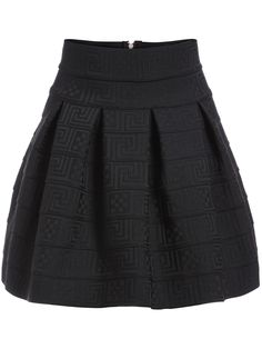 Shop High Waist Zipper Flare Skirt at ROMWE, discover more fashion styles online. Black Circle Skirts, Black Flare Skirt, Mini Skirts, Short Skirts, High Waisted Skater Skirt, Skater Skirts, Flared Skirt, Waist Skirt, Outfit Combinations