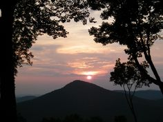 Ahhh, how the sun sets over the beautiful, Sharp Top Mountain in Pickens County, Georgia. I love the North Georgia Mountains! www.jasperpickenscountyga.com