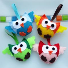 birthday party favours (could make into bag tags or key rings or brooches; farm animals for farmyard birthday)