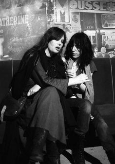 Nico and Patti Smith, photo by Michel Esteban & Lizzy Mercier Descloux Paris, 1976 This photo was published later in Rock Scene, 1977