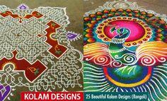 25 Beautiful Kolam Designs and Rangoli Kolams for your inspiraiton. Read full article: http://webneel.com/kolam-designs   more http://webneel.com/photography   Follow us www.pinterest.com/webneel