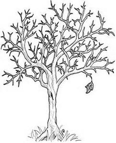Coloring Bare Tree clip art vector clip art online royalty free