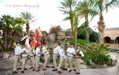 funny non-traditional wedding party photo. this is great.